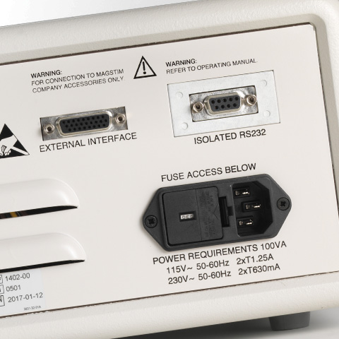 Neurosign N800 input and output sockets